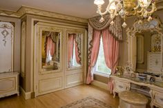 Young Chic and Social: I Want A Kawaii Room! Room Inspiration pictures for gals, lolitas and princesses Closet Bedroom, Bedroom Decor, Taupe Bedroom, Bedroom Ideas, Wall Decor, Wall Art, French Closet Doors, French Doors, Pink Curtains
