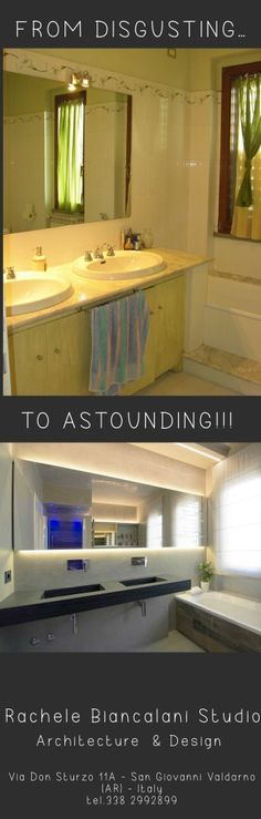 From disgusting to astounding... a bathroom makeover by Rachele Biancalani Studio - Architecture and Design