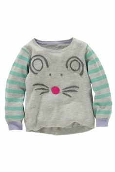 Buy Grey Mouse Jumper (3mths-6yrs) from the Next UK online shop