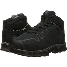 adfc85aa50753 Timberland PRO Powertrain Alloy Toe Met Guard EH Men's Work Lace-up Boots  Black Synthetic