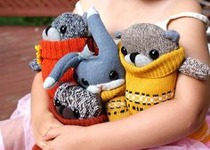 the Remakerie Upcycled Stuffed Toys – Recycled Sweater Sock Toys – Home Decor Poufs | Small for Big