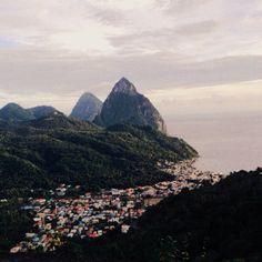 Soufriere, St. Lucia Saint Lucia, Caribbean Sea, Places Ive Been, Mount Everest, Trail, Art Gallery, Wanderlust, Tours, Island