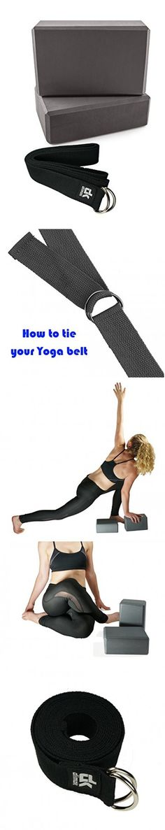 Dimok Yoga Block Yoga Strap Belt - Deepen Yoga Poses and Stretch Your Body in Variety of Ways - Reach Strength You didnt Think You Could - 2 Blocks and 8' Strap (grey)