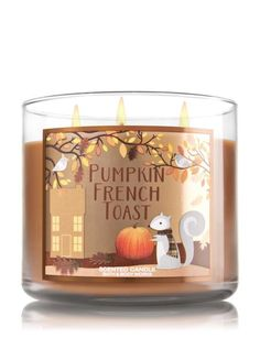 Pumpkin French Toast: Love the smell of warm maple syrup, pumpkin spice, and caramelized brown sugar? Try this scented candle that is both beautiful and works as a decorative piece in your home this Fall. Find more decorative pieces for your home here.