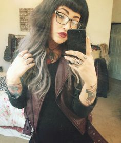 Black to Grey ombre hair