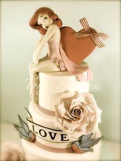 Pin Up vintage cake - by tortediivana @ CakesDecor.com - cake decorating website