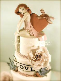 Me encanta, esta tengo que hacerla!! (espero que se parezca algo, jajajajajaja)  Pin Up vintage cake