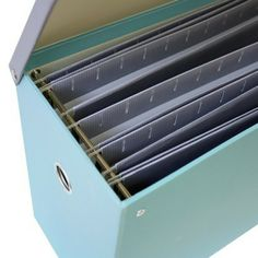 Greenroom Recycled File Box With Hanging Files