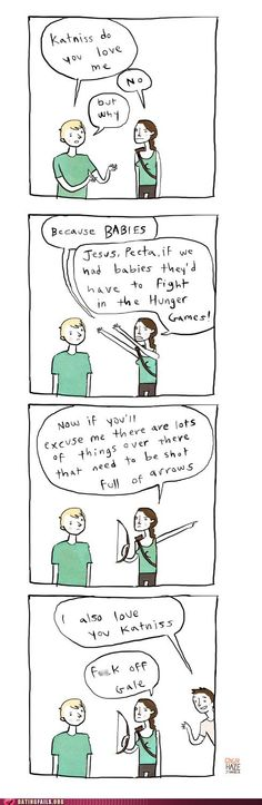 Hunger Games comic... love the books but this is still funny