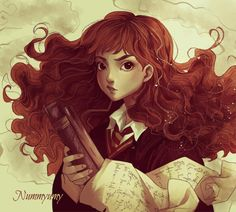 Hermione Granger by Nummyumy on DeviantArt Harry Potter Hermione Granger, Hermione Granger Fan Art, Harry Potter Marauders, Harry Potter Anime, Harry Potter Facts, Harry Potter Universal, Draco, Disney Family, Harry Potter Artwork