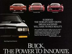 Image result for buick grand national advertisement