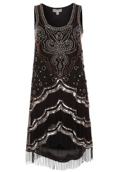 1920s style flapper Gatsby dress - Frock and Frill CHRYSLER Cocktail dress / Party dress black