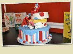 Striped Dr. Seuss Cake