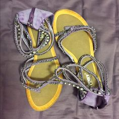 Shop Women's Purple size 9 Sandals at a discounted price at Poshmark. Description: Cute purple sandals with straps around the ankle. NEVER WORN. Strap Sandals, Shoes Sandals, Purple Sandals, Ankle, Cute, Shopping, Women, Fashion, Moda