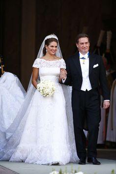 Princess Madeleine of Sweden on her wedding day, June 8, 2013