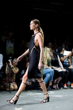 fea38e5f4cde Alexander Wang Black cocktail dress. Floating patterned pieces. World Of  Fashion