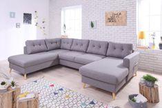 Mobilier - Salons Et Séjours - Canapés - Canapé grand angle gauche scandinave convertible tissu Gris clair STOCKHOLM