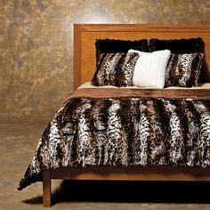 "Faux Fur King Comforter | Faux Fur Wildcat Duvet Cover Set King 86""X108"" At Decorinnovation.com"