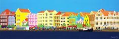 mirjam griffioen, kunst curacao, art, willemstad, handelskade, kunstenares, local art, gekleurde huisjes, caribbean art, best artist 2016 amigoe