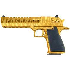 Magnum Research Desert Eagle Mark XIX Handgun, Semi-automatic, .44 Mag, DE44TGTS, 761226085539, Titanium Gold Bengal Tiger Stripe Finish