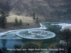 This ice circle formed in the Salmon River above Riggins and was spotted by river guide and photographer Gary Lane.