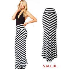 falda larga pegada de rayas - Buscar con Google