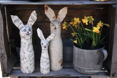 Easter Crafts, Preschool Activities, Craft Gifts, Garden Sculpture, Birthday Cards, Creations, Diy, Reggio, Home Decor