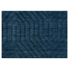 Rizzy Home Technique Collection Hand-Loomed 100% Wool Runner Rug - Navy (Blue) (2'6 x 8')