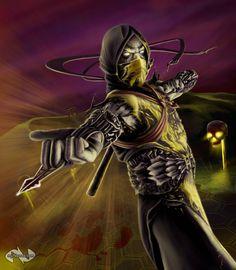 Mortal Kombat Scorpion Concept by mynando on DeviantArt Mortal Kombat Hd, Scorpion Mortal Kombat, Mortal Kombat Games, Mortal Combat, Back In The 90s, Thing 1, Universe Art, 2d Art, Video Game Art