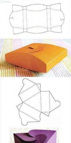 Paper Gift Box, Diy Gift Box, Diy Box, Diy Gifts, Paper Crafts Origami, Origami Box, Paper Crafting, Gift Wraping, Creative Box