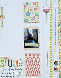 Becky Novacek stuck close to the Aug 6 sketch when creating this layout