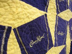 Crown Royal Bag Quilt by sewandtellquilts, via Flickr