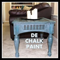 I wanted to make my own chalk paint, but couldn't find any calcium carbonate.  DE (diatomaceous earth) Chalk Paint works fabulously