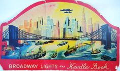Vintage Sewing Needle Book Broadway Lights Made in Germany