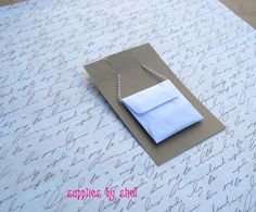 100  White 2x2 Envelopes  Necklace Card by suppliesbyshel on Etsy, $15.00