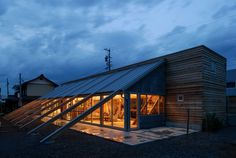 series of timber beams anchors longhouse residence in suzaka