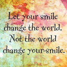 ☮ American Hippie Quotes ~ Smile