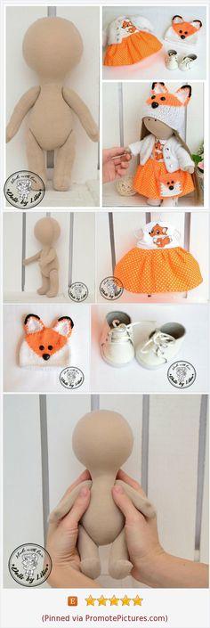 Kit Blank dolls body- 24 cm with clothes – Best Amigurumi Doll Crafts, Diy Doll, Baby Girl Winter, Cute Stuffed Animals, Sewing Dolls, Doll Tutorial, Waldorf Dolls, Soft Dolls, Felt Toys