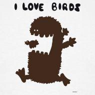J'adore les oiseaux  Tshirt homme disponible sur www.669.fr