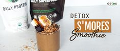 Detox S'mores Smoothie Detox Recipes, New Recipes, Healthy Recipes, Healthy Detox, Detox Foods, Detox Organics, Organic Superfoods, Diet Desserts, Classic Desserts