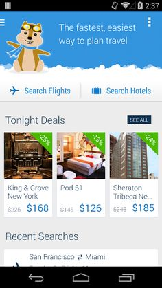 """Hipmunk is the fastest, easiest way to plan travel. This app will save you time by comparing all the top travel sites so you don't have to. Plus, save up to 60% off hotels with new Tonight Deals.<br> <br>• """"Best apps of 2013"""" – Google Play<br>• """"The new gold standard in flight and hotel apps"""" – Forbes<br>• """"You must try Hipmunk"""" – Mashable<br>• """"A great way to plan travel"""" – Business Insider<br> <br>FEATURES:<br>•  FAST and EASY flight and hotel booking<br>•  Find the LOWEST PRICES on…"""