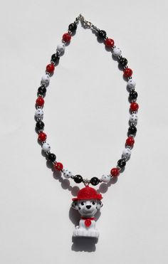 Paw Patrol Marshall Fire Pup Necklace for by StinkyPinkCreations