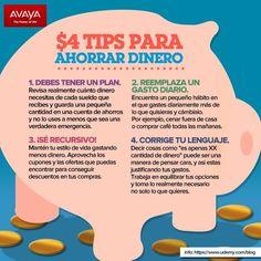 ahorrar- to save money Money Tips, Money Saving Tips, Self Branding, Money Challenge, Savings Plan, Financial Tips, Consumerism, Personal Finance, Earn Money