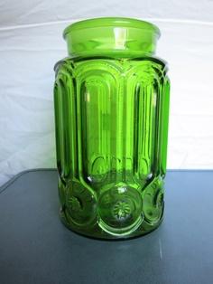 Vintage Green Glass Jar