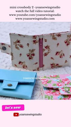 Sewing Tutorials, Sewing Hacks, Sewing Crafts, Small Sewing Projects, Sewing Projects For Beginners, Diy Bags Patterns, Sewing Patterns, Sew Wallet, Diy Bag Designs