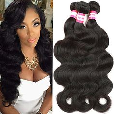 BP Hair Brazilian Body Wave Virgin Hair 3 Bundles 7A 100 Unprocessed Brazilian Remy Human Hair Weave Extensions Natural Black Color 24 26 28inches Full Head ** Check out the image by visiting the link.