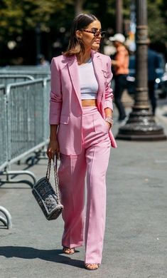 Shop for gifts at Moda Operandi. Pink Outfits, Classy Outfits, Casual Outfits, Cute Outfits, Style Blazer, Look Blazer, Suit Fashion, Look Fashion, Fashion Outfits