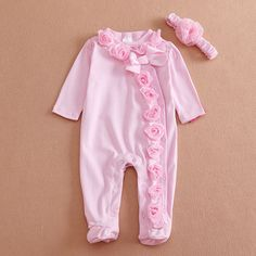 Humor Bear NEW Newborn Baby Girl Clothes Bow/Flowers Romper Clothing Set Jumpsuit & Headband 2 PC Cute Infant Cirls Rompers - Kid Shop Global - Kids & Baby Shop Online - baby & kids clothing, toys for baby & kid Cute Newborn Baby Girl, Little Baby Girl, Baby Girl Romper, Baby Girls, Infant Girls, Baby Dress, Newborn Girls, Kids Girls, Summer Baby