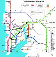 mumbai suburban train route map