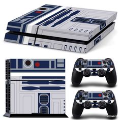 PS4 Playstation 4 Console Skin Decal Sticker R2D2 Star Wars + 2 Controller Skins #ZoomHit